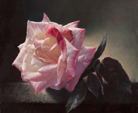 floral painting rose