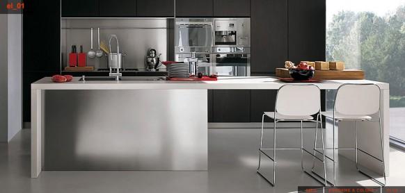 Modular stainless steel kitchen ideas inkdrop for Steel modular kitchen designs