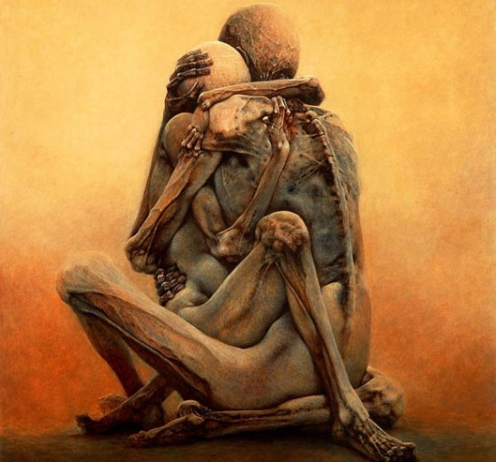 Painting by Zdzislaw beksinski